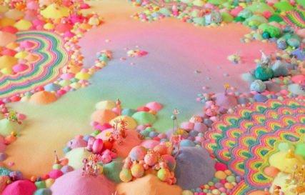 oeuvre ephemere pip&pop / bonbons sucre / article blog bonbon factory