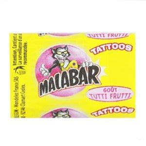 chewing gum malabar tutti frutti tattoo