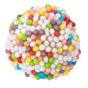 bonbon mure multicolore fini