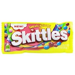 sachet skittles sweet & sours