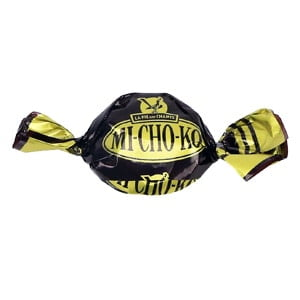 bonbon michoko la pie qui chante chocolat caramel noir dore