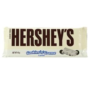 chocolat blanc et cookies hershey's