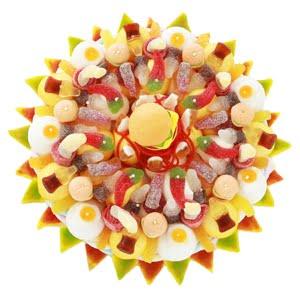 carre gateau de bonbon fast food jaune tiramisUSA bonbon factory