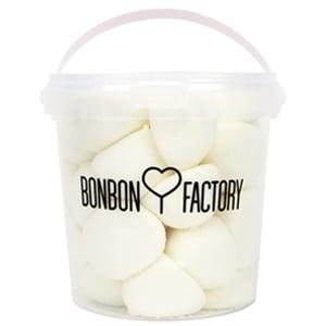 seau pot balle de golf fini boule guimauve vanille blanc bonbon factory
