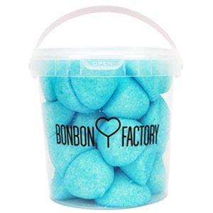 seau balle de golf boule guimauve framboise bleu bonbon factory