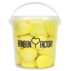 seau balle de golf boule guimauve banane jaune bonbon factory