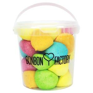 seau balle de golf boules guimauve assorties bonbon factory