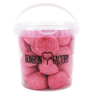 seau balle de golf boule guimauve fraise rose bonbon factory