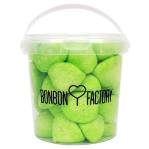 seau balle de golf boule guimauve pomme verte bonbon factory