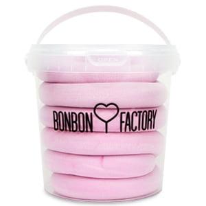Seau guimauve longue rose fourre bonbon factory