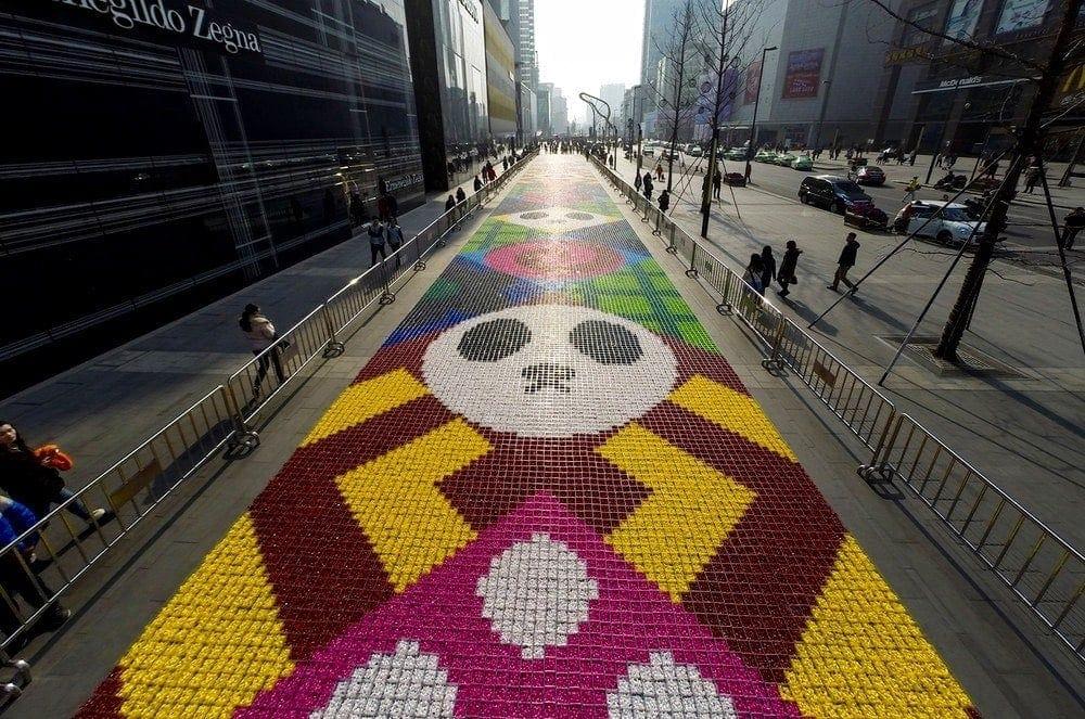 Bbf-blog-buzz-la plus grande fresque de bonbons au monde
