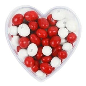 vignette Cœur M&M's rouge et blanc