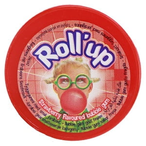 vignette roll up fraise emballage rouleau chewing gum gout fraise lutti
