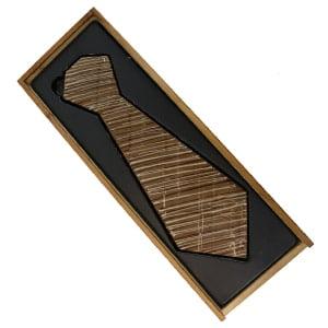 vignette boite ouverte coffret cravate en chocolat au lait chocolat belge idee cadeau gourmand noel