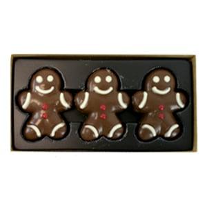 vignette presentation boite ouverte petits bonhomme de pain d'épice en chocolat au lait idee cadeau noel