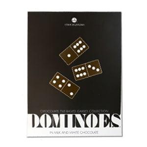 vignette boite fermee jeu dominos en chocolat belge chocolat blanc idee cadeau gourmand amateur de jeux