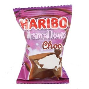 Vignette chamallows choco emballe sachet haribo bonbon factory