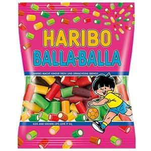 vignette sachet de bonbons balla balla haribo