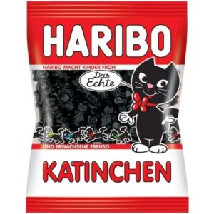 vignette sachet bonbons haribo chat reglisse katinchen