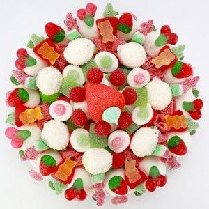 gâteau de Noël en bonbon de couleur vert rouge et blanc